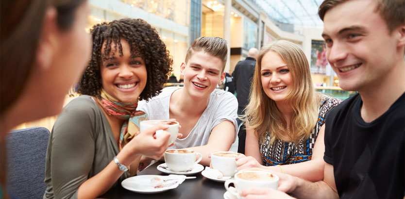 Grupo de pessoas felizes