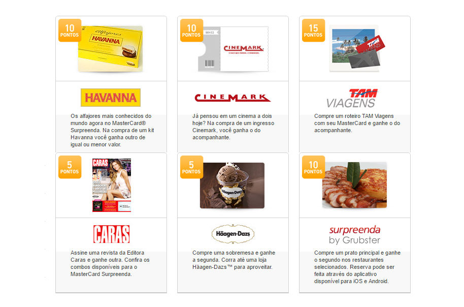 produtos mastercard surpreenda