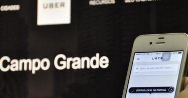 uber chega em campo grande