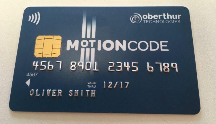 Cartão de crédito MotionCode