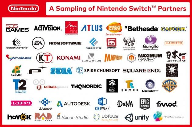 Na imagem divulgada no final do vídeo, a Nintendo faz questão de mostrar o apoio das gigantes que haviam abandonado o Wii U.