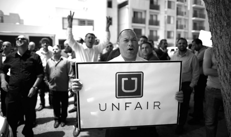 Protesto contra a Uber