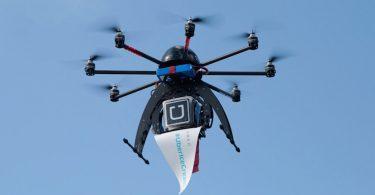 Uber usa drones para entregar sorvetes