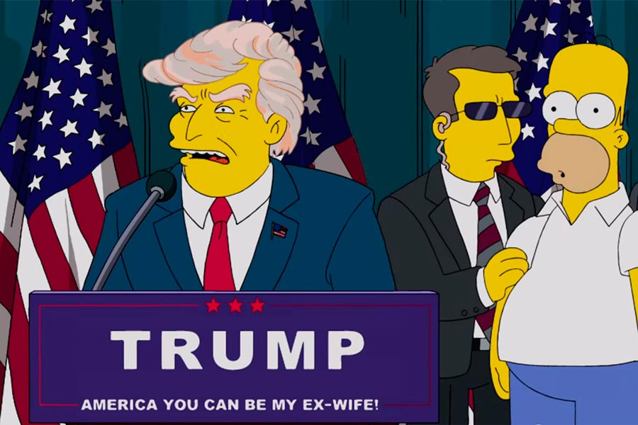 Donald Trump em Os Simpsons