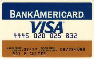 primeiro cartão visa