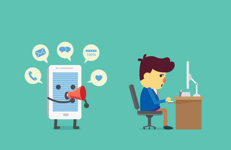 as distrações do mundo digital