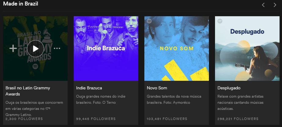 Playlists do Spotify